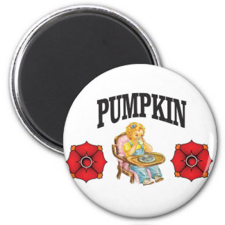 pumpkin little girl 6 cm round magnet