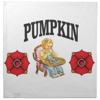 pumpkin little girl napkin