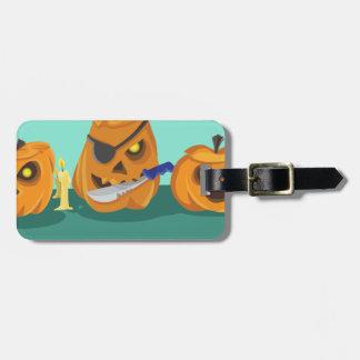 pumpkin luggage tag