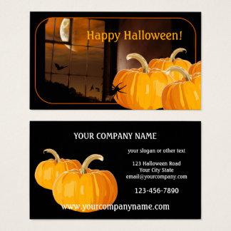 Pumpkin Moon Halloween Business Card
