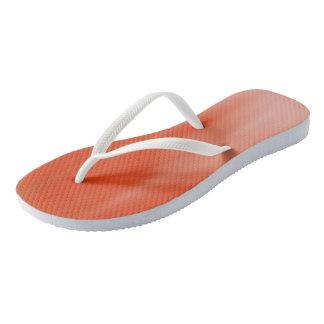 Pumpkin Ombre Wave flip-flops Thongs