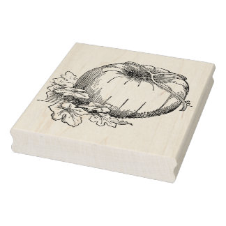 Pumpkin on the Vine Rubber Stamp