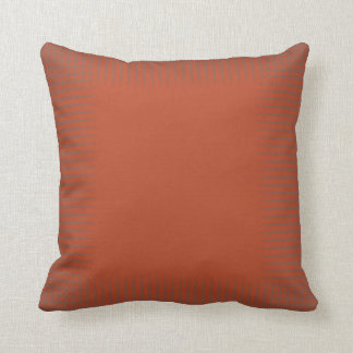 Pumpkin Orange Mauve Grey Triangle Shapes Subtle Throw Pillow