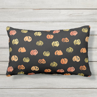 Pumpkin Outdoor Lumbar Pillow