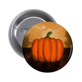 Pumpkin Painting 6 Cm Round Badge