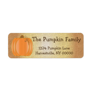 Pumpkin Party Return Address Label