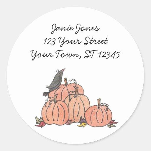 Pumpkin Patch Address Labels Sticker