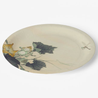 Pumpkin Patch and Dragonfly 9 Inch Paper Plate