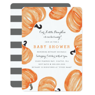 Pumpkin Patch Baby Shower Card