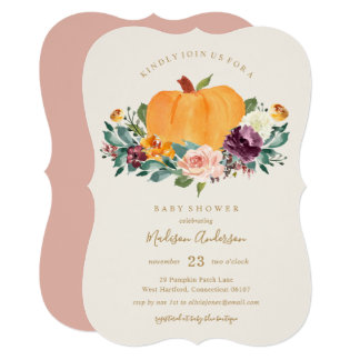 Pumpkin Patch Baby Shower Fall Invitation