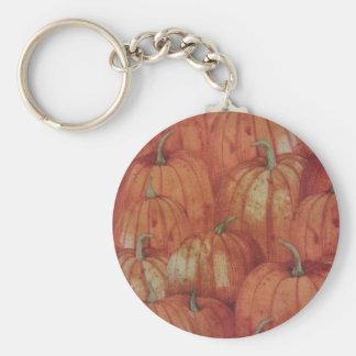 Pumpkin Patch Basic Round Button Key Ring