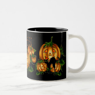 PUMPKIN PATCH!  by SHARON SHARPE Two-Tone Coffee Mug