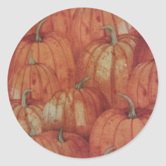 Pumpkin Patch Classic Round Sticker