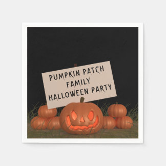 Pumpkin Patch Family Halloween Party Paper Napkins