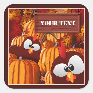 Pumpkin Patch Funny Custom Halloween Stickers