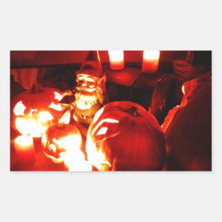 Pumpkin Patch Gnome II Rectangular Sticker