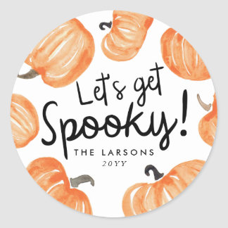Pumpkin Patch Halloween Classic Round Sticker