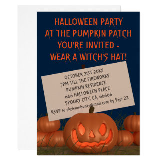 Pumpkin Patch Halloween Party Invite