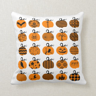 Pumpkin Patch Halloween Throw Pillows