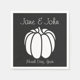 Pumpkin Patch in Black Napkins Paper Serviettes