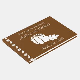 Pumpkin Patch in Chocolate Guest Book