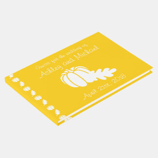 Pumpkin Patch in Yellow Guest Book