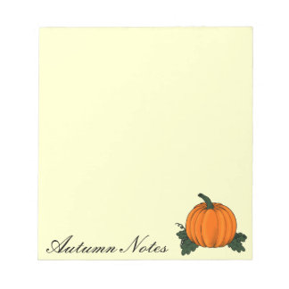 Pumpkin Patch Notepad