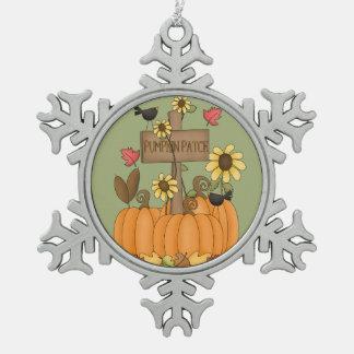 Pumpkin Patch Pewter Snowflake Decoration