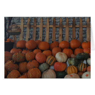 Pumpkin Patch Photo Holiday Postage Stamps Card