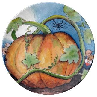 Pumpkin Patch Porcelain Plates