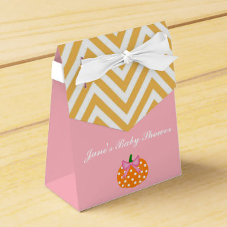 Pumpkin Patch Themed Girl Baby Shower Favor Box