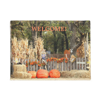 "Pumpkin Patch ""Welcome"" Door Mat"