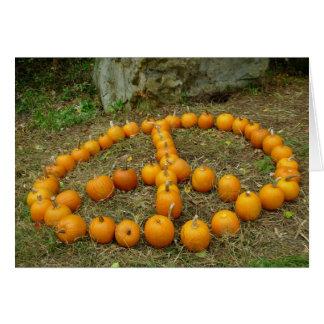 Pumpkin Peace Sign Card