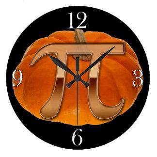 Pumpkin Pi Funny Math-lover's Wall Clock
