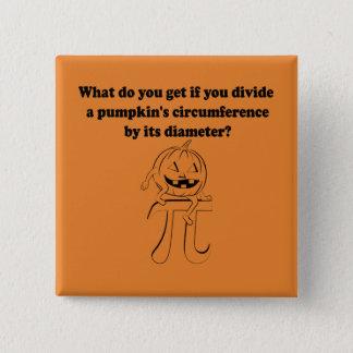Pumpkin Pi Math Halloween 15 Cm Square Badge