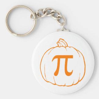 Pumpkin Pi (pie) Mathematics Humour Basic Round Button Key Ring