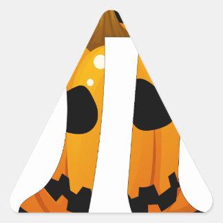 Pumpkin Pi Triangle Stickers
