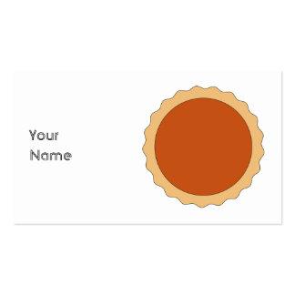 Pumpkin Pie. Business Card Template
