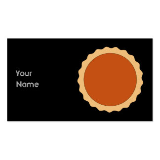 Pumpkin Pie. Double-Sided Standard Business Cards (Pack Of 100)
