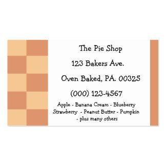 Pumpkin Pie Colors Business Card Template