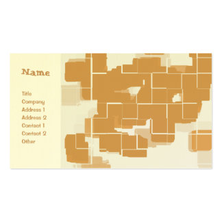 """""""Pumpkin Pie"""" Geometric Abstract Pack Of Standard Business Cards"""