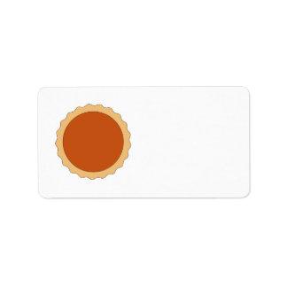 Pumpkin Pie. Address Label
