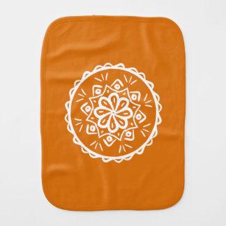 Pumpkin Pie Mandala Burp Cloth