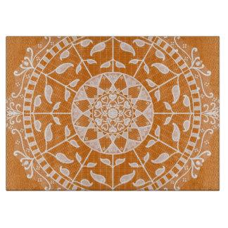 Pumpkin Pie Mandala Cutting Board