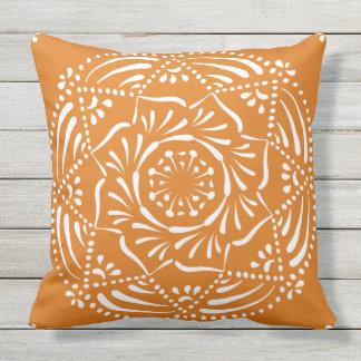 Pumpkin Pie Mandala Outdoor Cushion