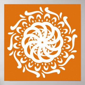 Pumpkin Pie Mandala Poster