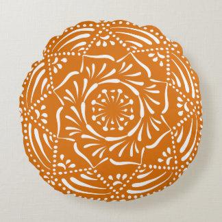 Pumpkin Pie Mandala Round Cushion
