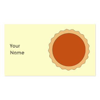 Pumpkin Pie. Pack Of Standard Business Cards