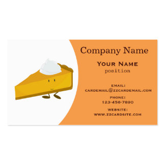Pumpkin pie pack of standard business cards