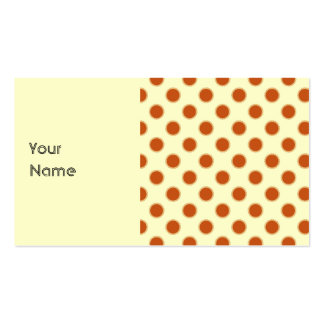 Pumpkin Pie Pattern. Double-Sided Standard Business Cards (Pack Of 100)